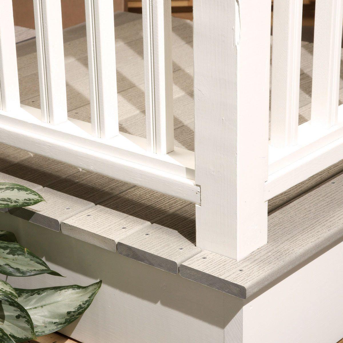 composite deck wood railings