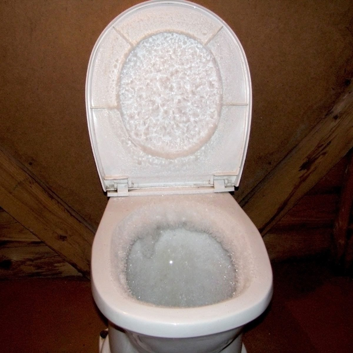exploding toilet frozen
