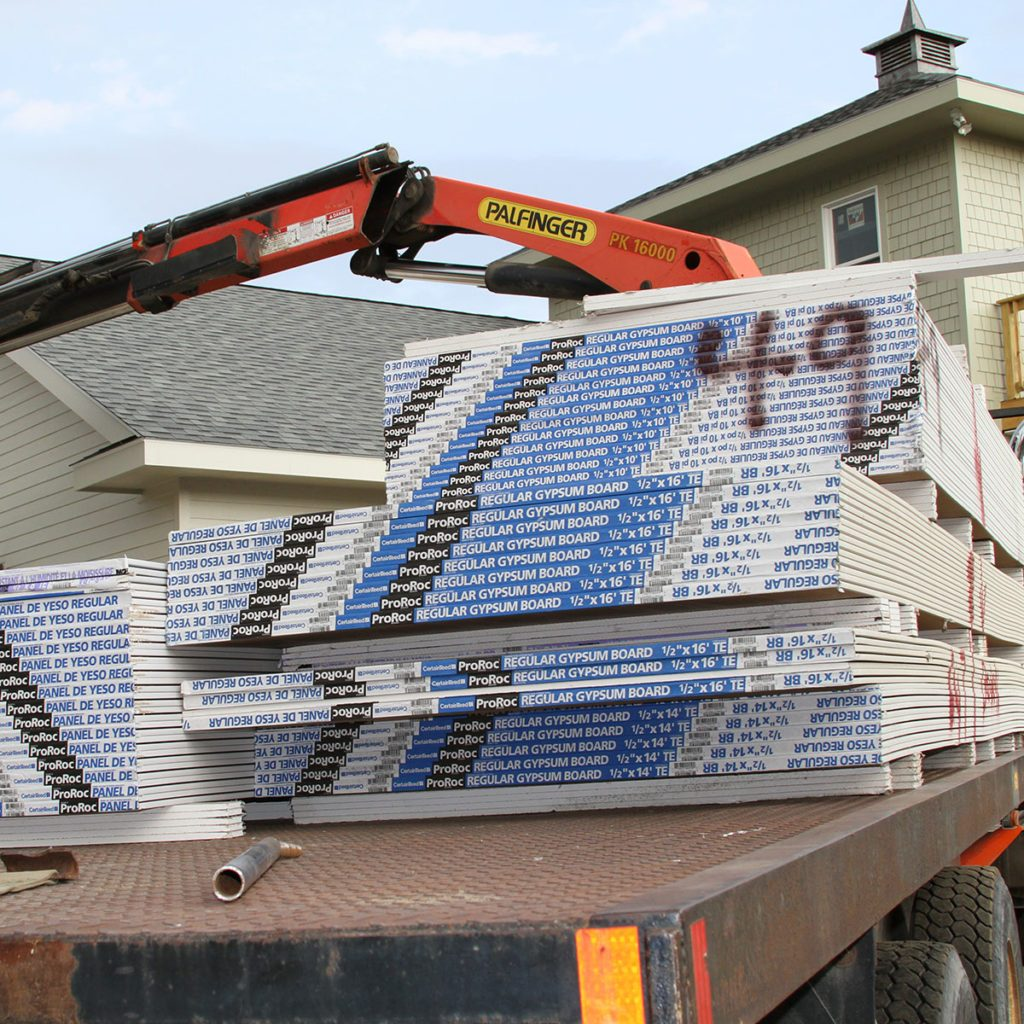 Drywall laying flat on a truck bed | Construction Pro Tips