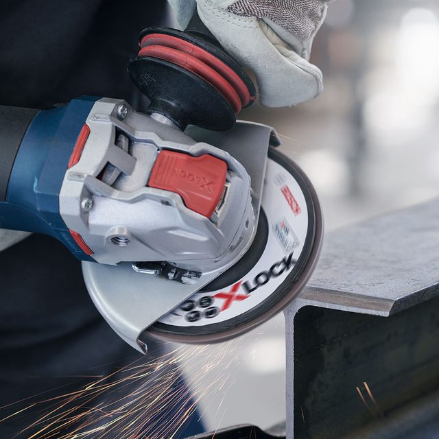 A Bosch Grinder with X-Lock Technology | Construction Pro Tips