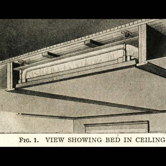 bed in the ceiling
