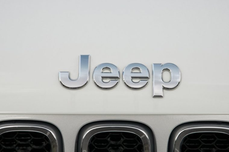ISTANBUL - OCTOBER 22, 2018 : Close-up of Jeep logo. Jeep is a brand of American automobiles that is a division of FCA US LLC, owned subsidiary of Fiat Chrysler Automobiles.