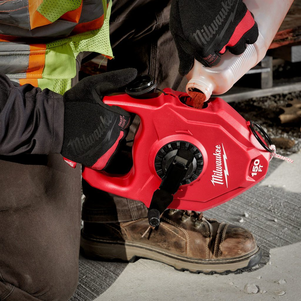 A long chalk reel from Milwaukee Tool | Construction Pro Tips