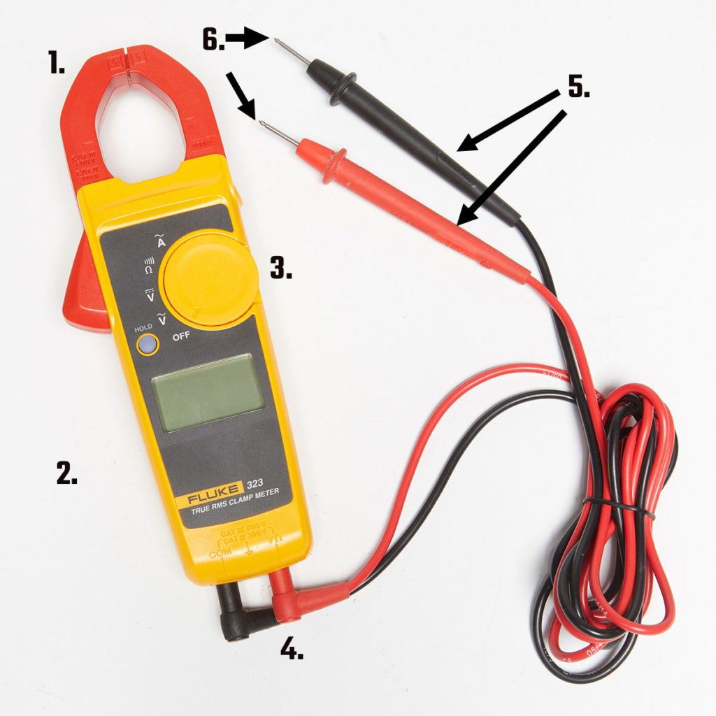 Mutimeter with attached prongs | Construction Pro Tips