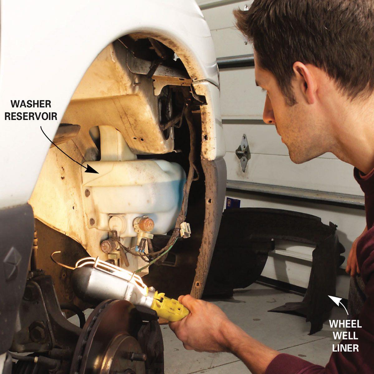 Find the windshield washer fluid reservoir diagram