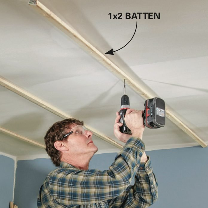 Shiplap ceiling - battens on finished ceilings