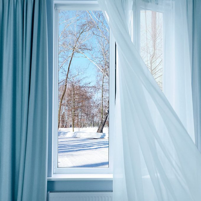 window with winter scene