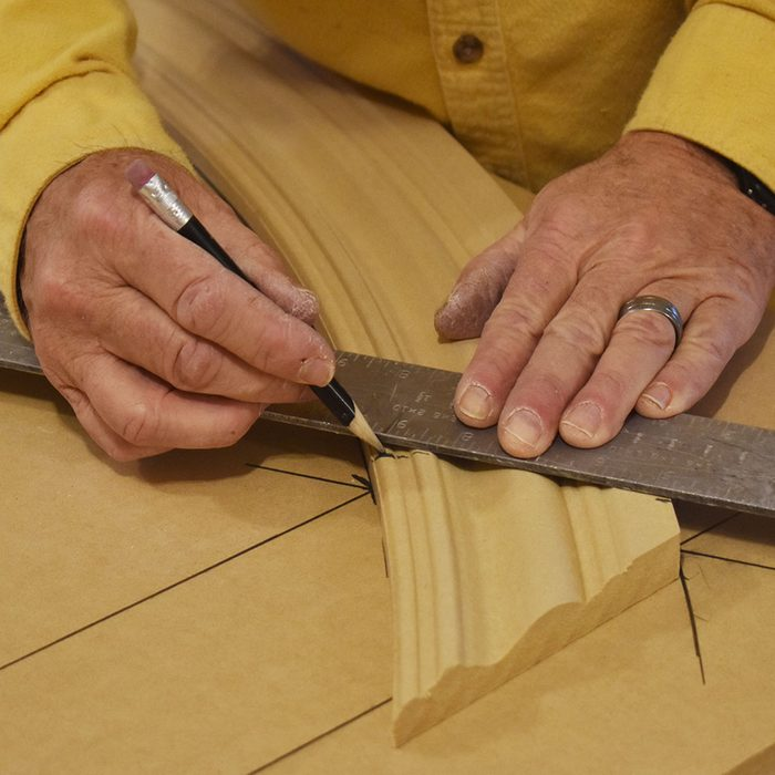 Transfer the cut line onto the radius trim   Construction Pro Tips