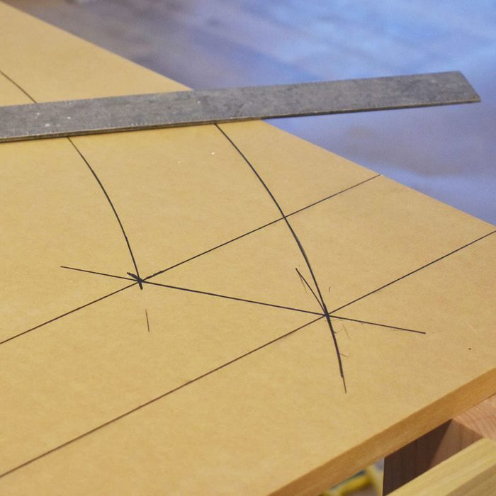 Connecting the intersecting points with a straightedge   Construction Pro Tips