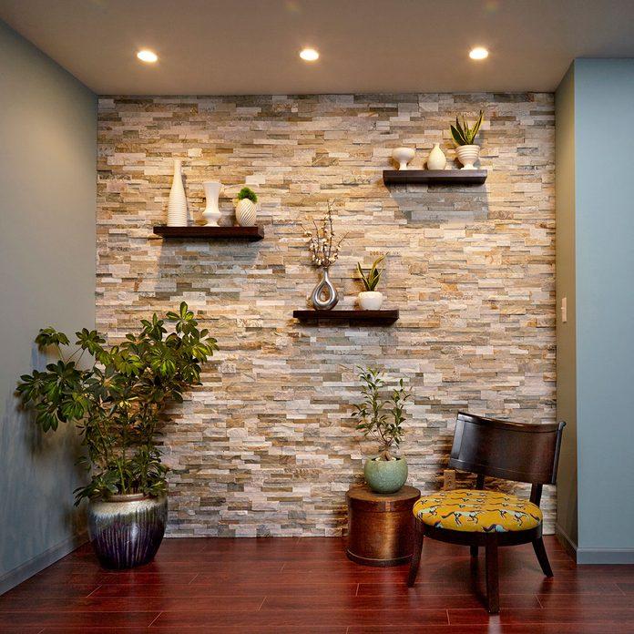 A stone veneer wall   Construction Pro Tips