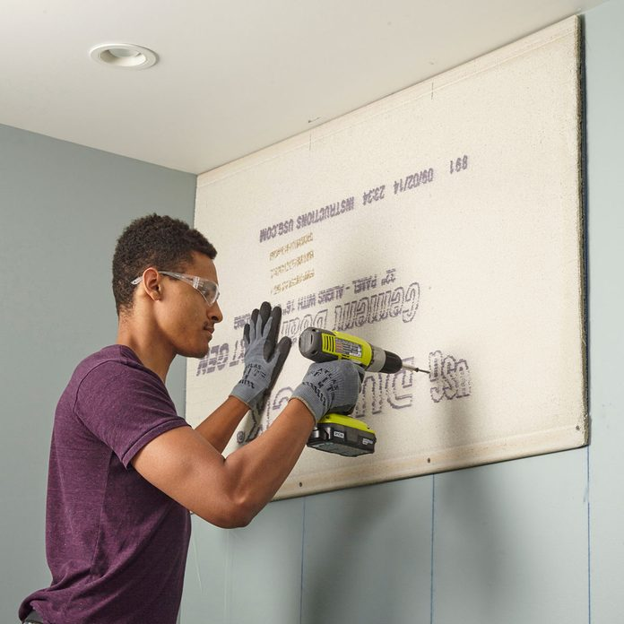 Attaching Cement board to a wall   Construction Pro Tips