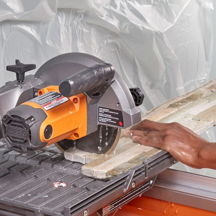 Cut off the ends of stone pieces   Construction Pro Tips