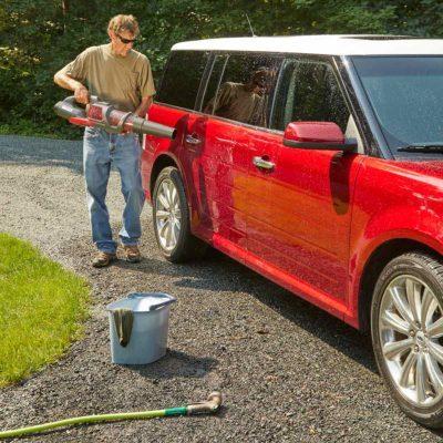leaf blower car wash dry