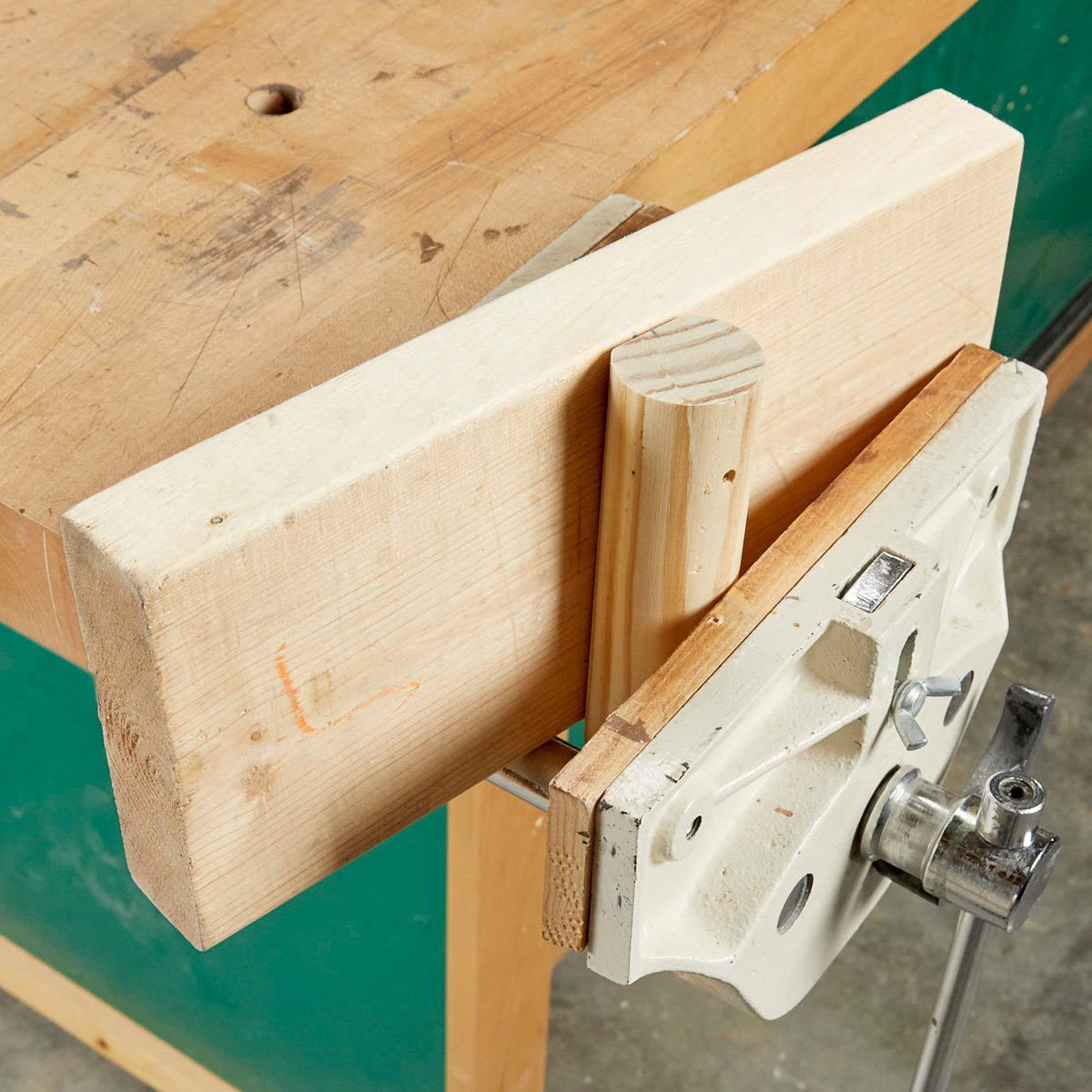 Sensational Bench Vise Add On That Costs Next To Nothing Family Handyman Creativecarmelina Interior Chair Design Creativecarmelinacom