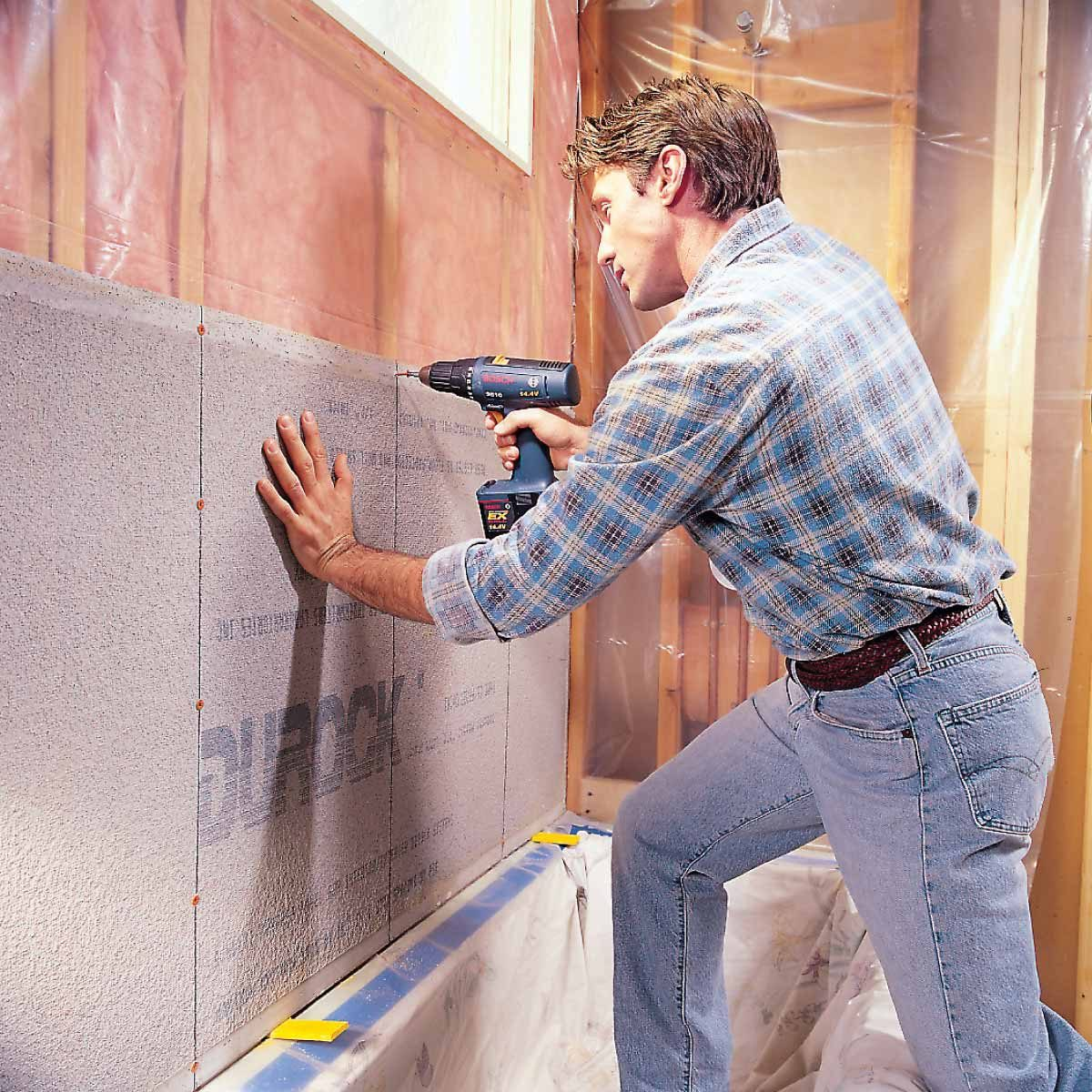How To Install Cement Board For Tile Projects Family Handyman