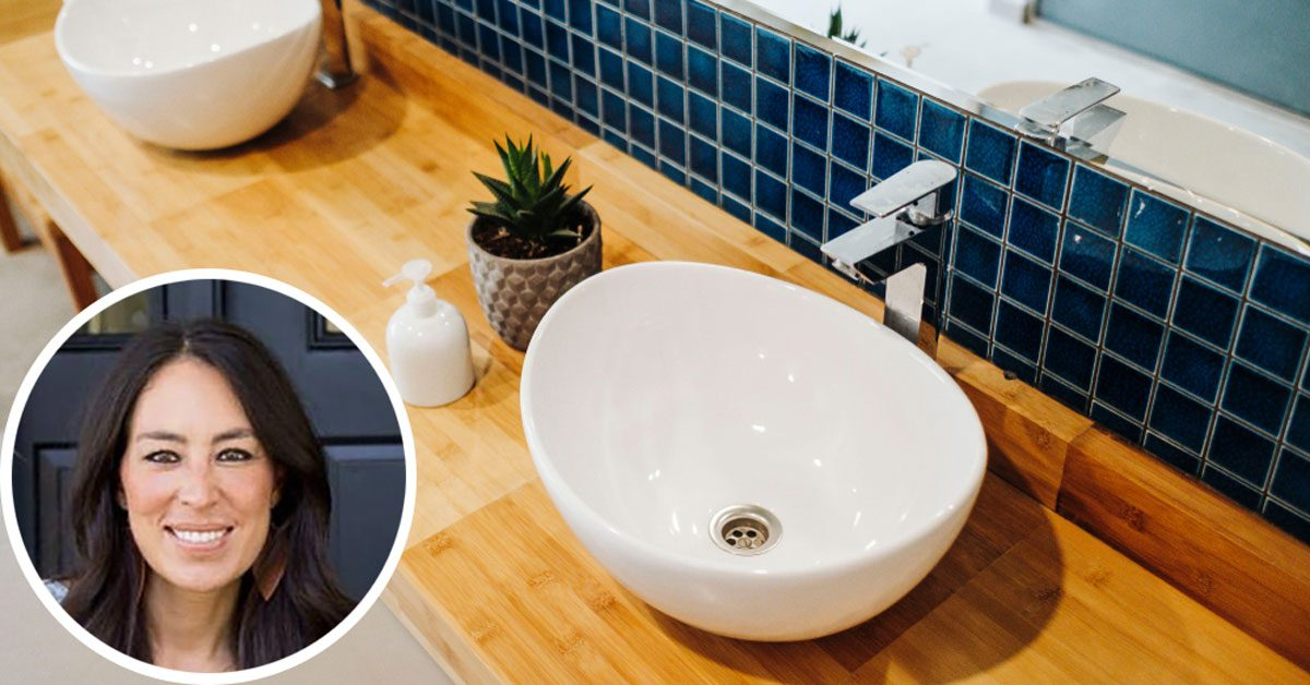 joanna gaines small bathroom tips
