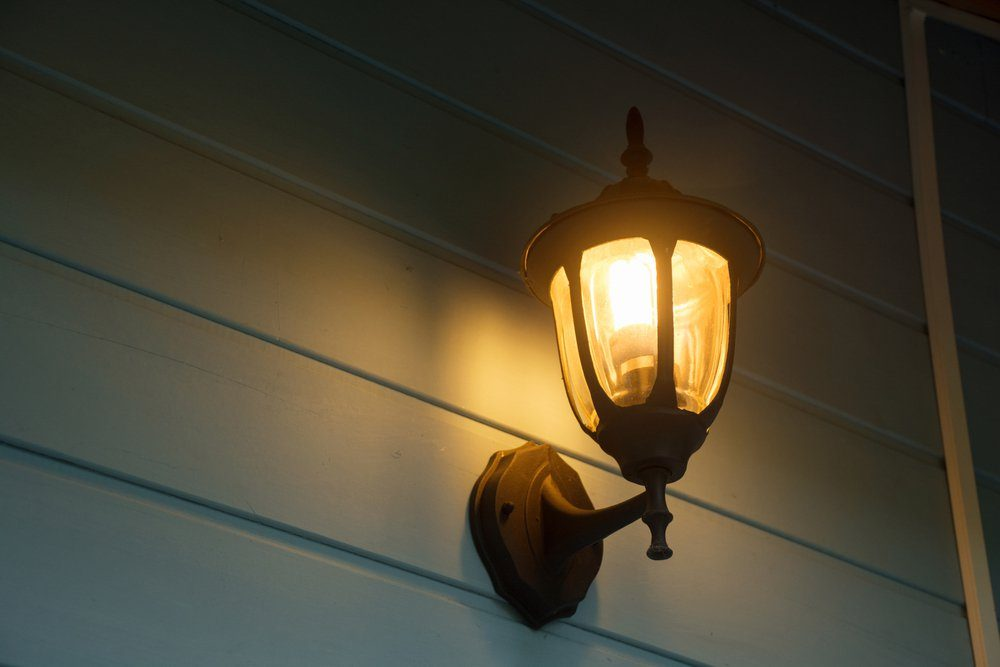 Good lighting discourages robbers.