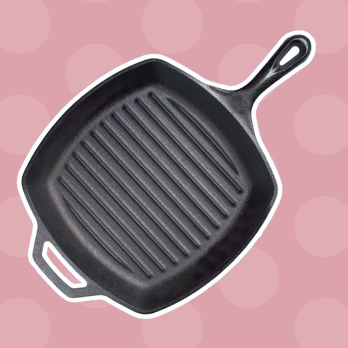 Inch Square Cast Iron Grill Pan