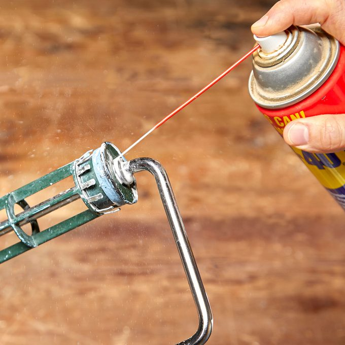 WD40 sprayed onto a paint roller | Construction Pro Tips