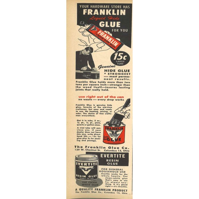 An ad for Franklin glue | Construction Pro Tips