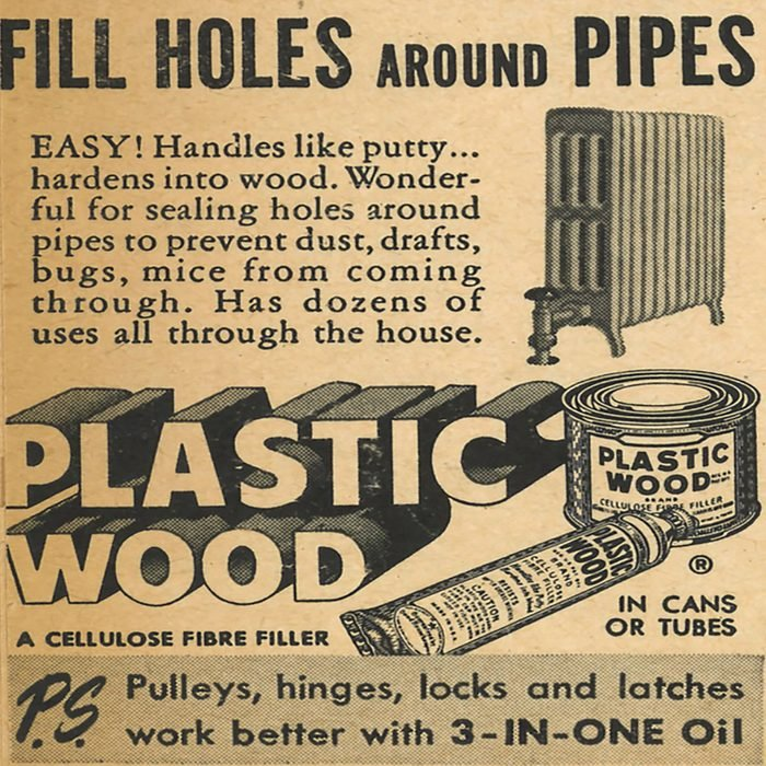 An ad for Plastic Wood | Construction Pro Tips