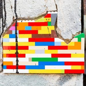 This Artist Uses a Popular Kids Toy to Repair Buildings