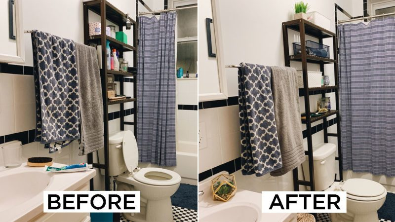 Astonishing Before After Heres How I Redid My Bathroom Decor Under Download Free Architecture Designs Sospemadebymaigaardcom