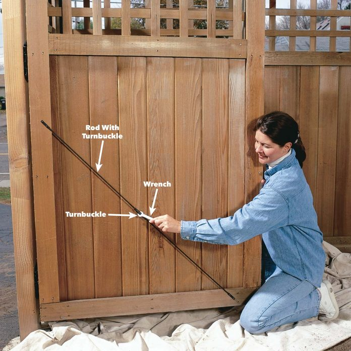 Straighten fence gates and doors
