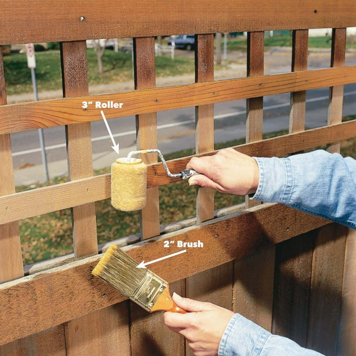 Best way to stain a fence