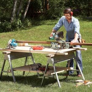Savvy Sawhorse Table Tips