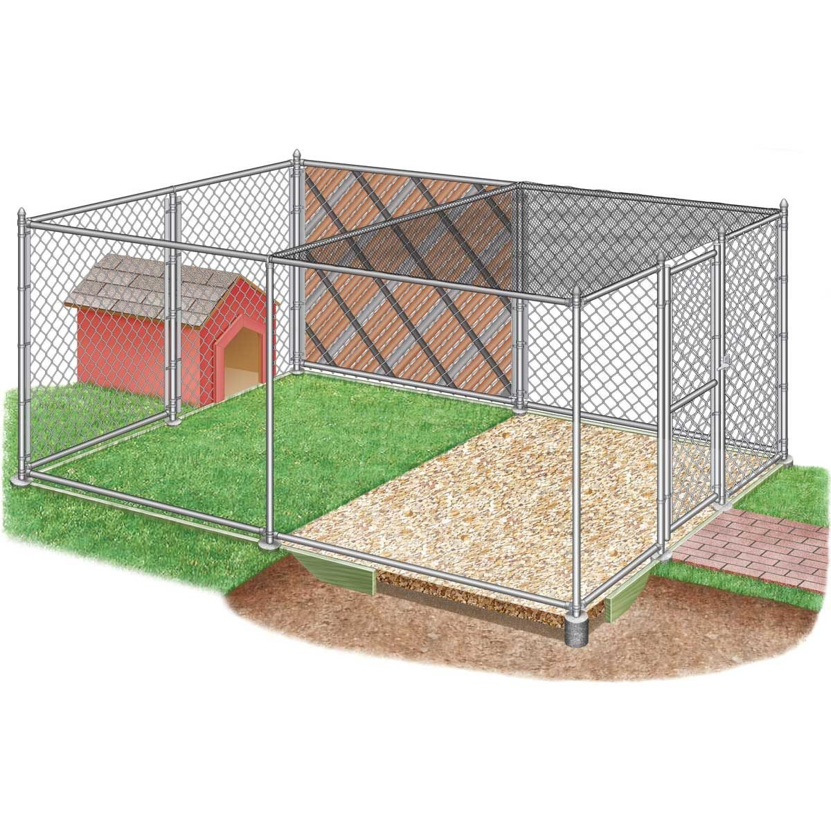 How to Build Chain Link Outdoor Dog Kennels | The Family ...