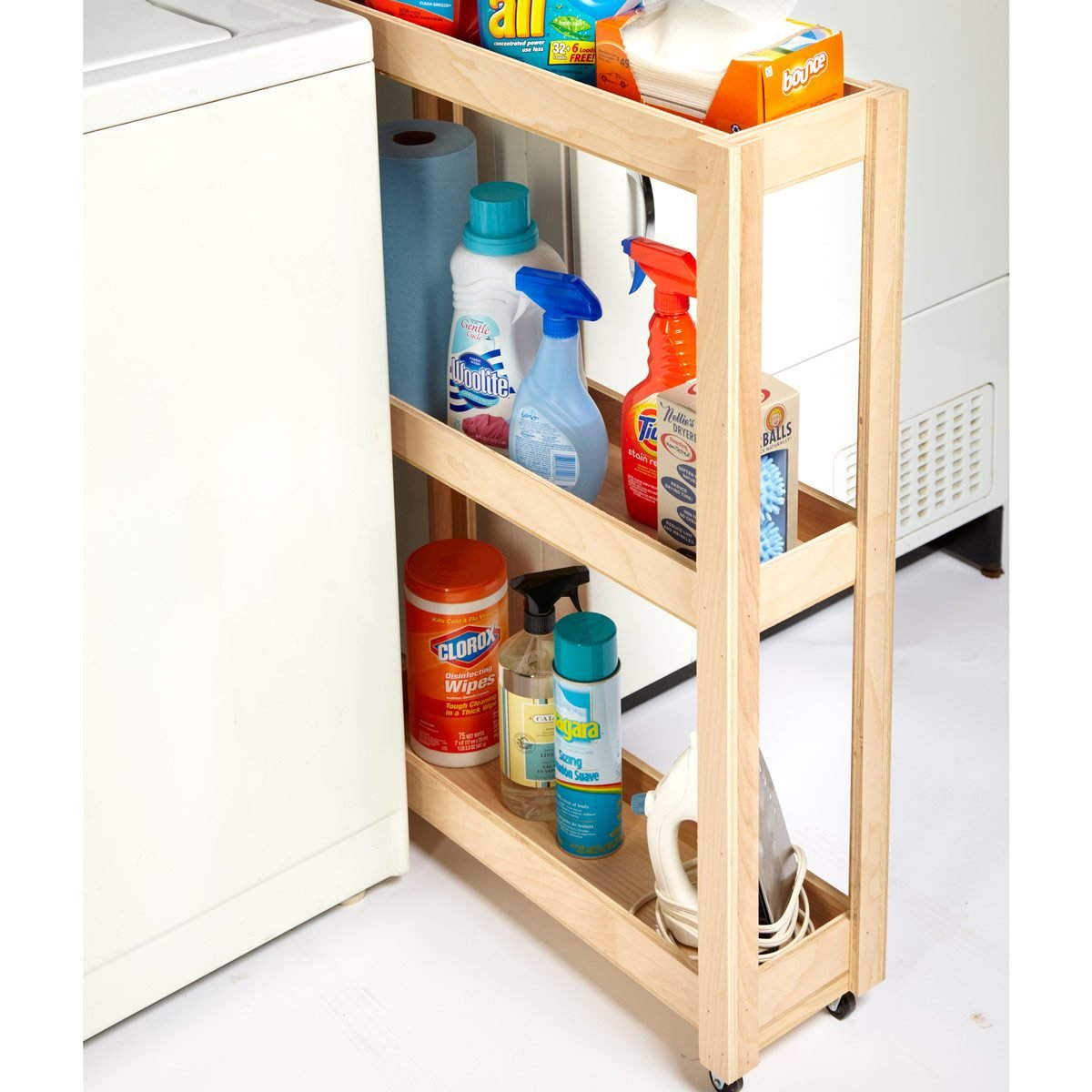 skinny laundry room cart laundry hack
