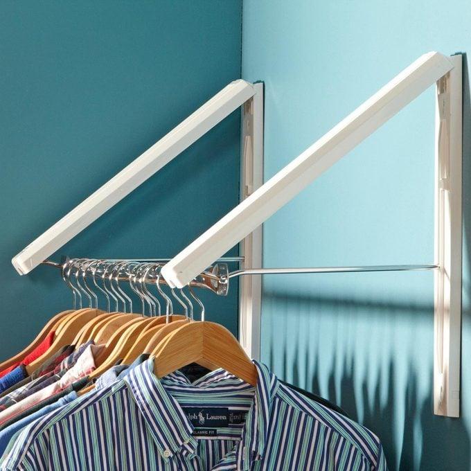 collapsible clothes storage closet laundry hack