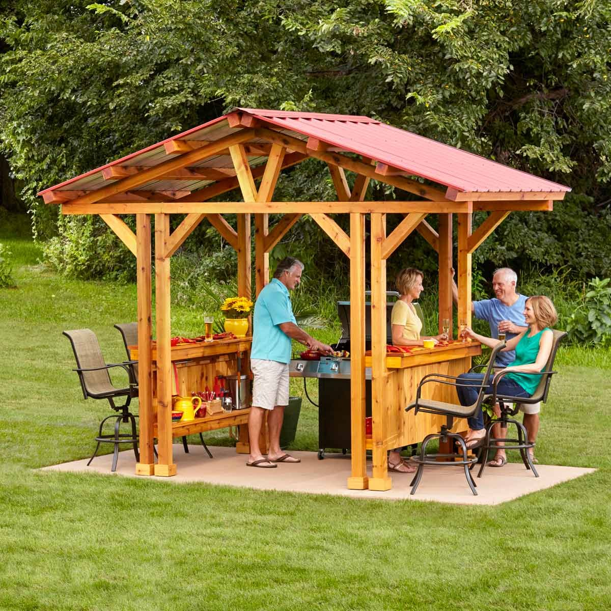 Grill Gazebo Plans Make A Grillzebo Diy Family Handyman