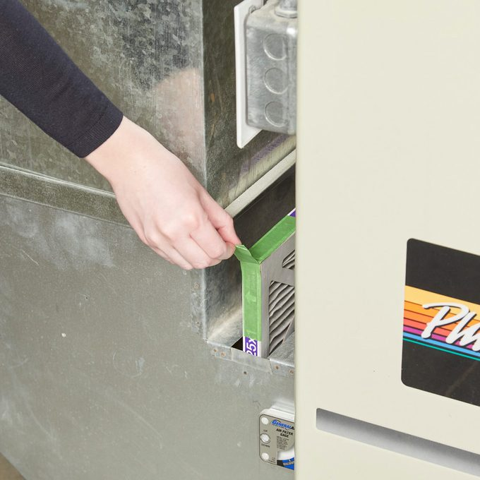 HH painters tape furnace filter pull tab