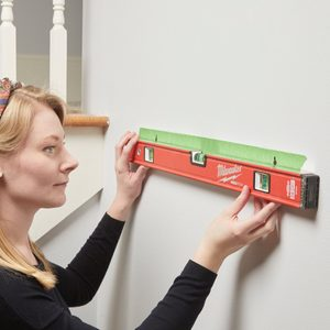 HH painters tape shelf hanging template