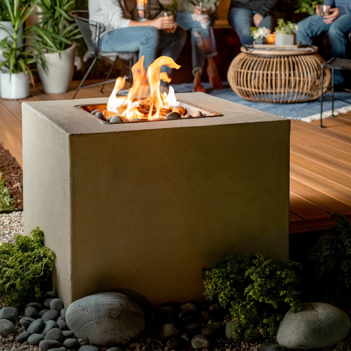 How To Make A Modern Outdoor Fireplace Family Handyman