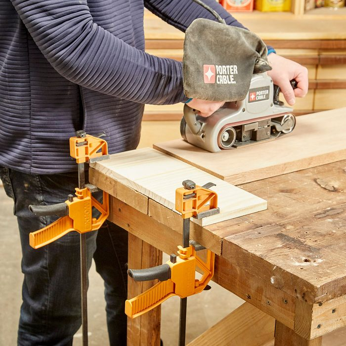 Sanding Wood With a fence to prevent slippage   Construction Pro Tips