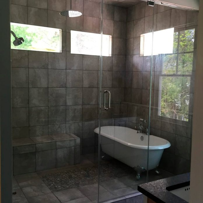 Waterfall Rainforest-customize Feature for Shower Wall Glass Wall Tiles