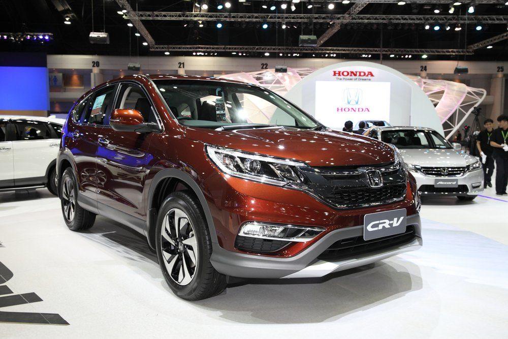 BANGKOK - November 28: Honda CR-V car on display at The Motor Expo 2014 on November 28, 2014 in Bangkok, Thailand.