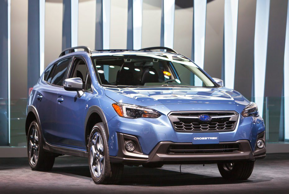 CHICAGO - February 9: The 2018 Subaru Crosstrek on display at the Chicago Auto Show media preview February 9, 2018 in Chicago, Illinois.