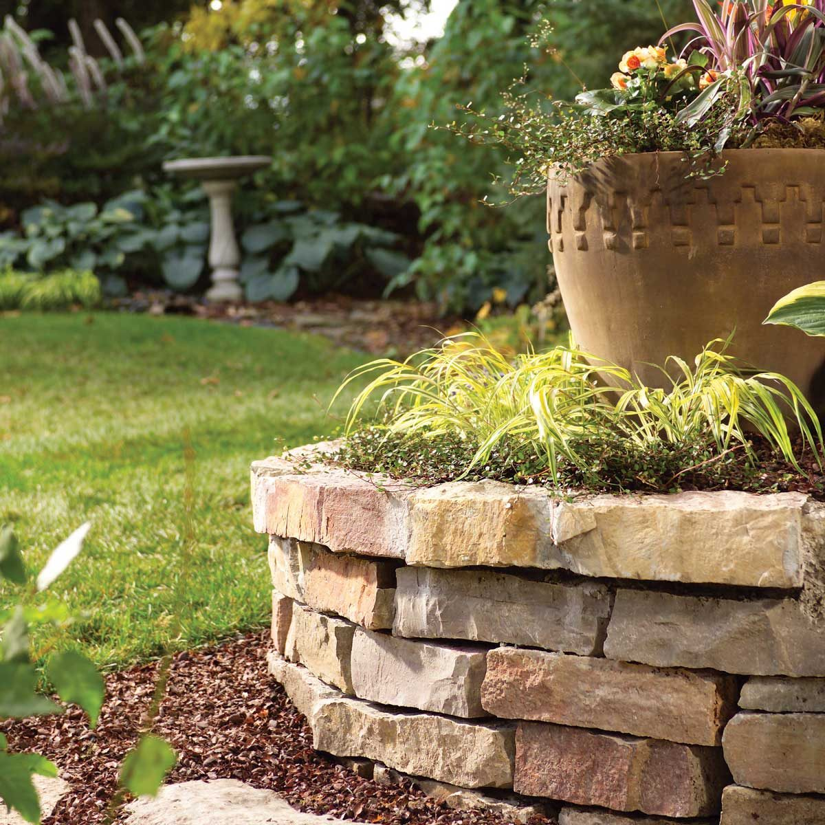 howto build garden bed with bricks