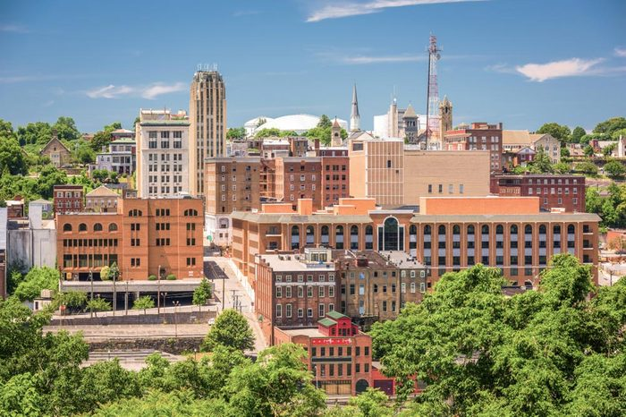 Lynchburg, Virginia, USA downtown skyline in the afternoon.