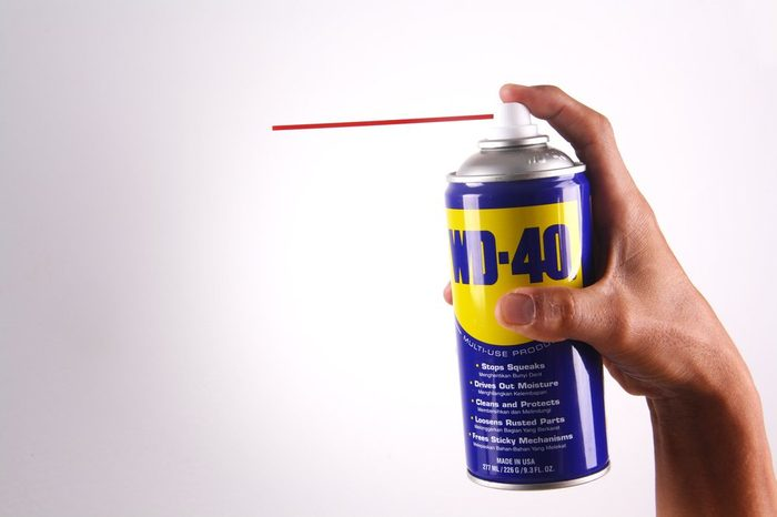 Photo for WD-40 Product for multi purpose use for rusty item. Photo taken on October 2017, at Kota Kinabalu, Sabah, Malaysia, Home made studio photo.