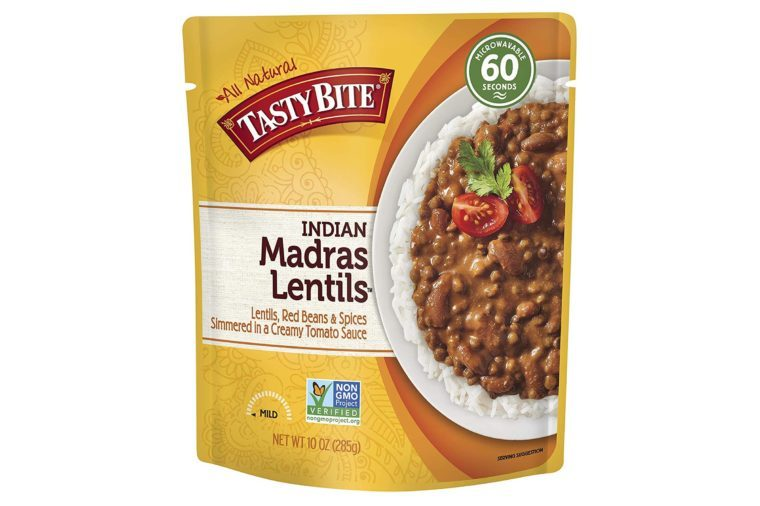 Tasty Bite Indian Entree Madras Lentils 10 Ounce (Pack of 6), Fully Cooked Indian Entrée with Lentils Red Beans & Spices in a Creamy Tomato Sauce, Microwaveable, Ready to Eat