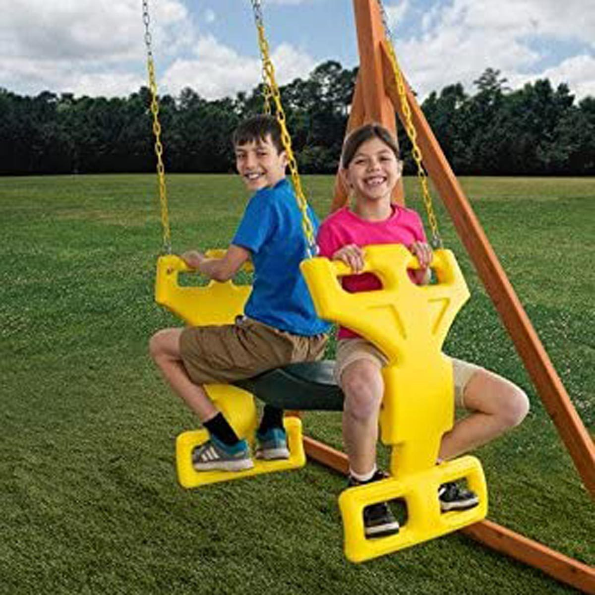 kids double swing