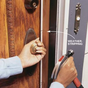 How to Install Weather Stripping on Your Door