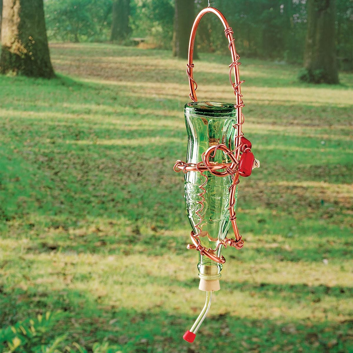 How To Make A Glass Bottle Hummingbird Feeder Family