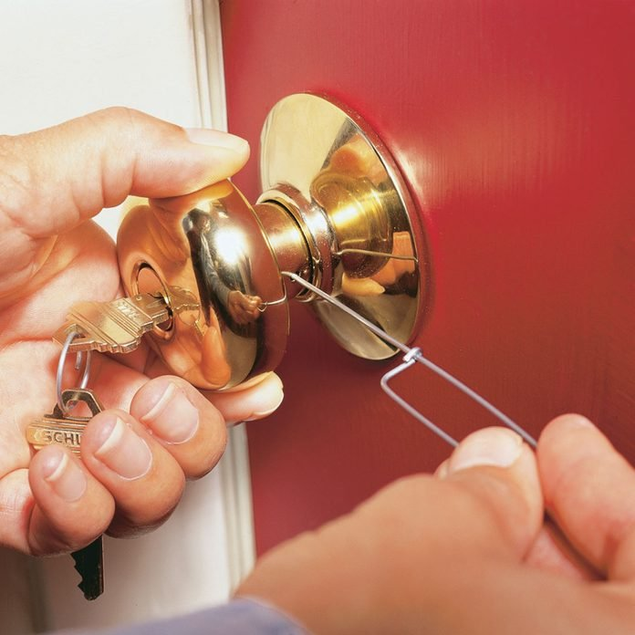 how to rekey a door remove old knob