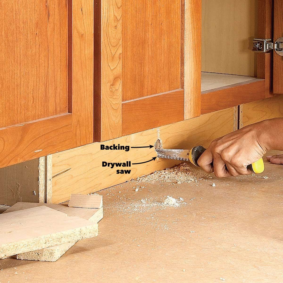 How To Build Under Cabinet Drawers Increase Kitchen Storage Diy Family Handyman